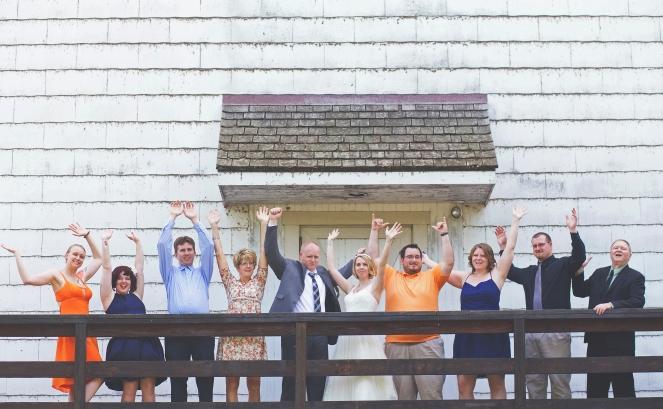 Family Portrait Barn Printz Wedding